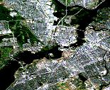 A satellite photograph of central Ottawa, available from Toporamama. Click to visit the Centre for Topographic Information website.
